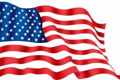 drapeau americain au vent