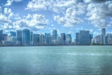 vue de la skyline de miami en Floride