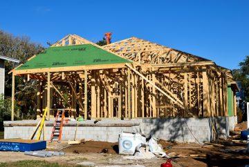 maison en construction aux usa