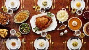 Repas traditionnel de Thanksgiving