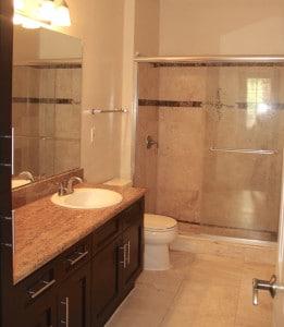 salle de bain du condo MD3 a vendre en floride