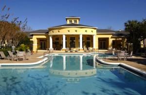 Club house et piscine résidence de condos en Floride