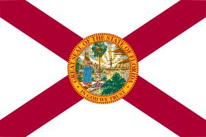 drapeau de la Floride Usa