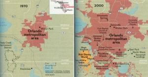 L'évolution de la ville d'Orlando depuis les années 70