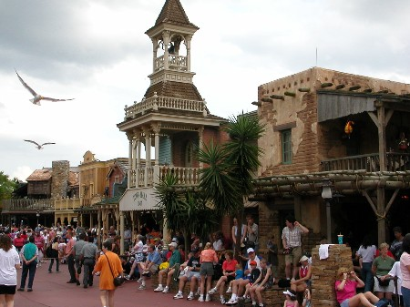 Rue de Frontierland au Magic Kingdom en Floride
