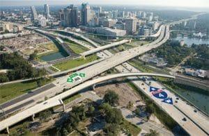 I-4 la grande voie qui traverse Orlando