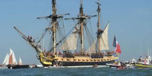 le bateau l'hermione pour la traversée france amérique en 2015