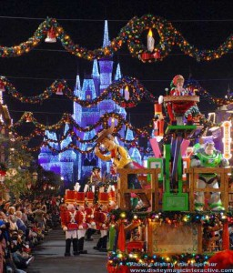 parade de noel au magic kingdom orlando