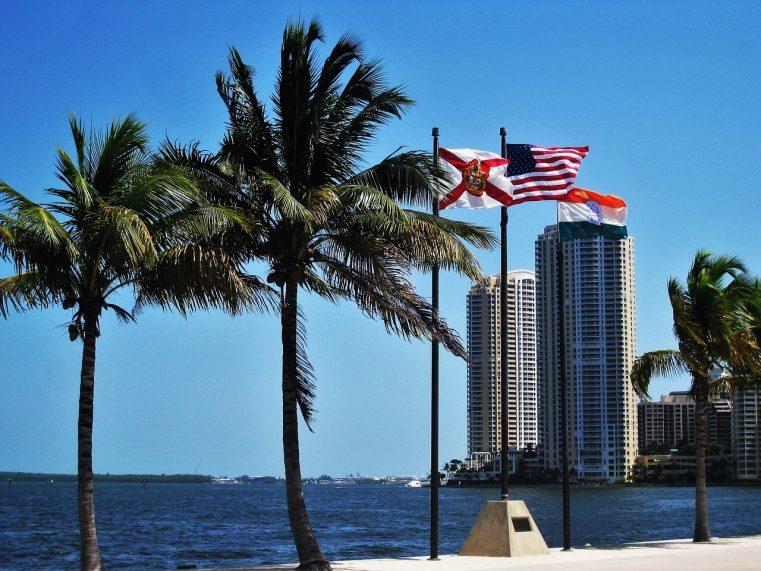 front de mer a miami en Floride