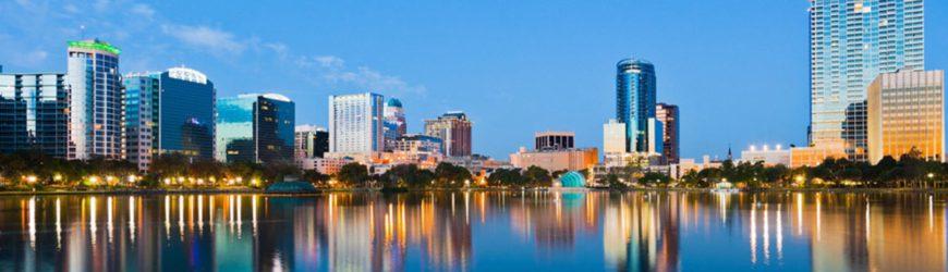 Lac Eola de la ville d'Orlando en Floride