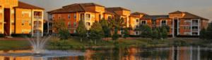 residence d'appartements en Floride, espaces exterieurs