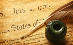 signature de la déclaration d'independance des USA le 4 juillet 1776