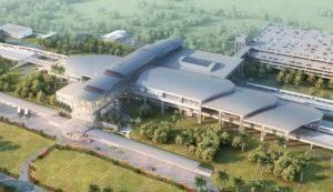 design du futur terminal c de l'aéroport international d'Orlando