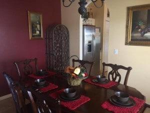 salle à manger de la villa meublée vm4 à vendre en Floride
