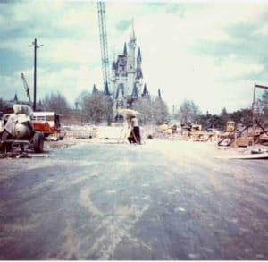 construction du parc Walt Disney World Epcot à Orlando