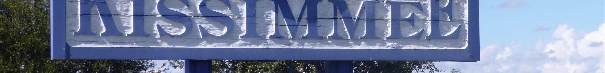 panneau de bienvenue de la ville de kissimmee en Floride